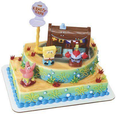 Spongebob Squarepants and the Krusty Krab Cake Topper ...