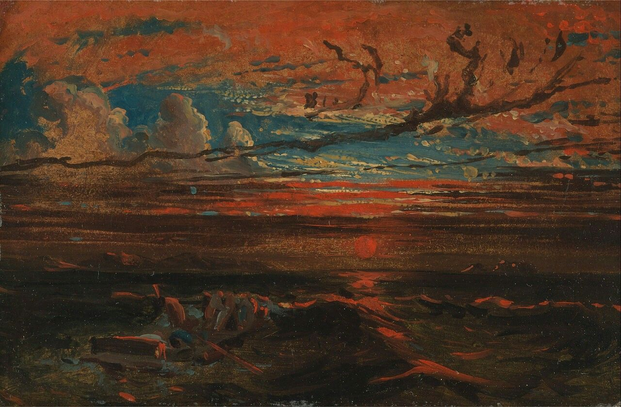Francis Danby, Sunset at Sea after a Storm, 1824