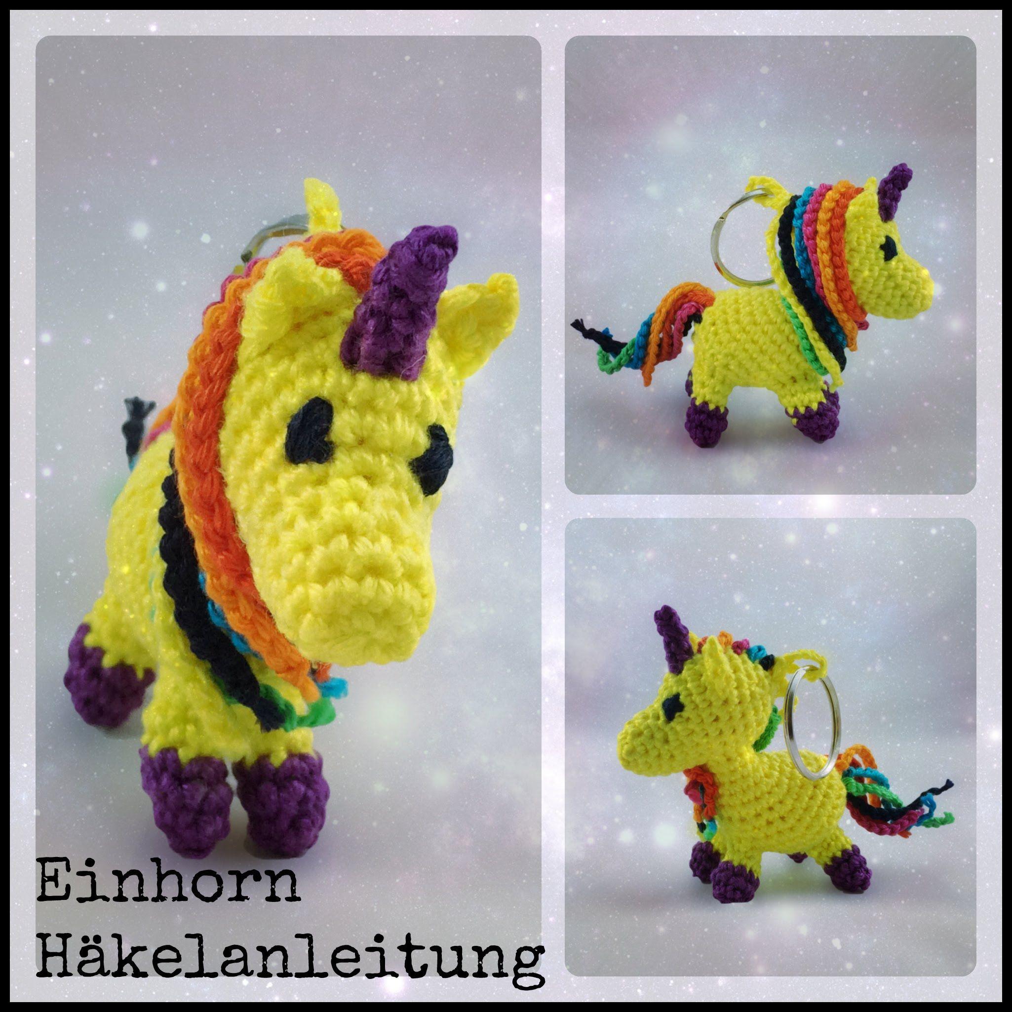 Einhorn Schlüsselanhänger Häkeln A Mini Crochet Crochet