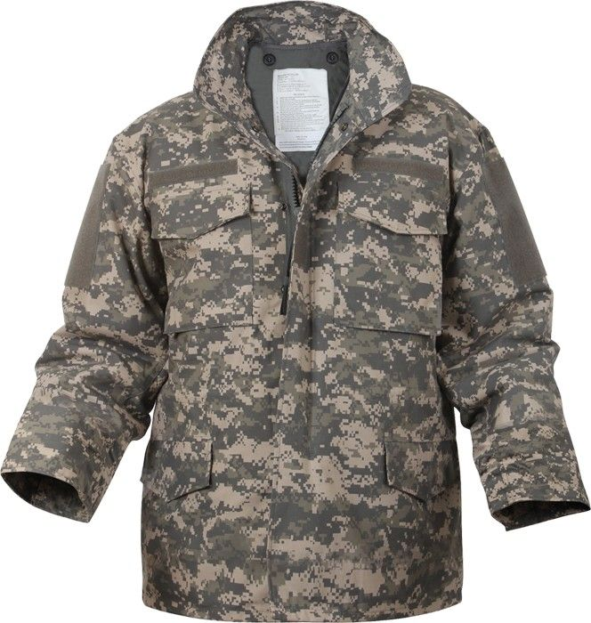 ACU Digital Camouflage Military M-65 Field Jacket  d5a0cc7d72d