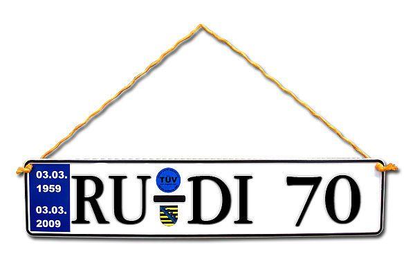Geschenk zum 70. Geburtstag Geburtstagsgeschenk Schild mit TÜV