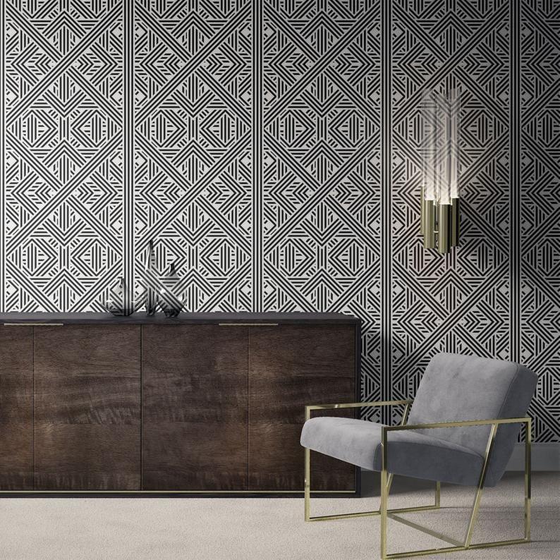 Geometric Wallpaper Removable Wallpaper Modern Wallpaper Bathroom Wallpaper Peel And Stick Self Adhesive Wallpaper 205 Geometric Wallpaper Modern Wallpaper Removable Wallpaper