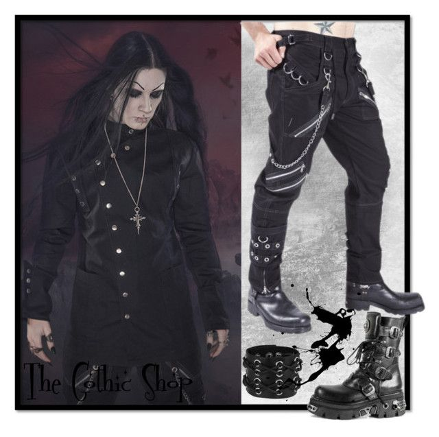 """Men's gothic clothing #3"" by thegothicshop ❤ liked on Polyvore featuring mode, Reactor en katesclothing"