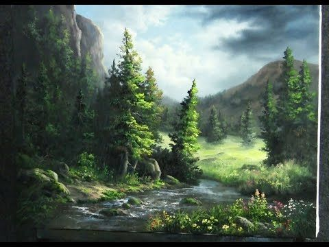 Paint With Kevin Hill Wildflower Mountains Kevin Hill Paintings Landscape Painting Tutorial Landscape Paintings