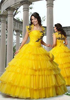 Fantastic Organza Floor Length Natural Waist Strapless Quinceanera Dresses - 1300257098B - US$203.29 - BellasDress