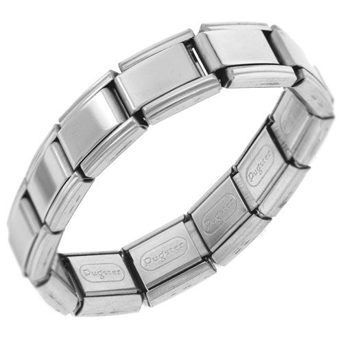 20 Link Shiny Starter Italian Charm Chain Bracelet Men S Stainless Steel Bracelets Cuff Bangle Pugster