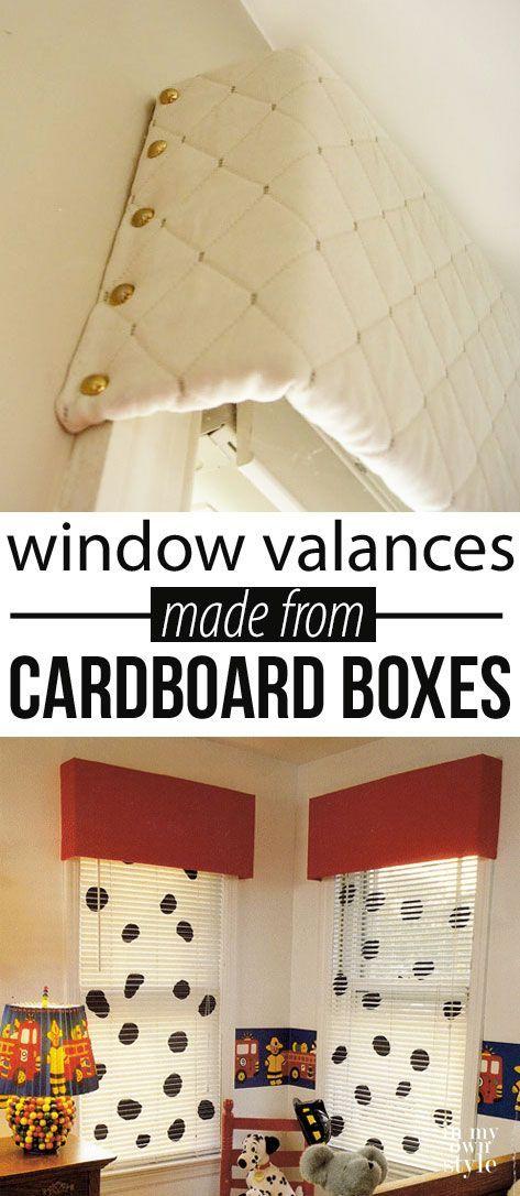 Cómo hacer una cenefa de ventana usando el cartón de cajas ...