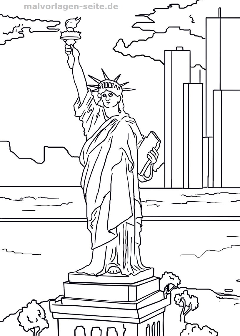 Malvorlage Freiheitsstatue - Statue of Liberty | Malvorlagen ...