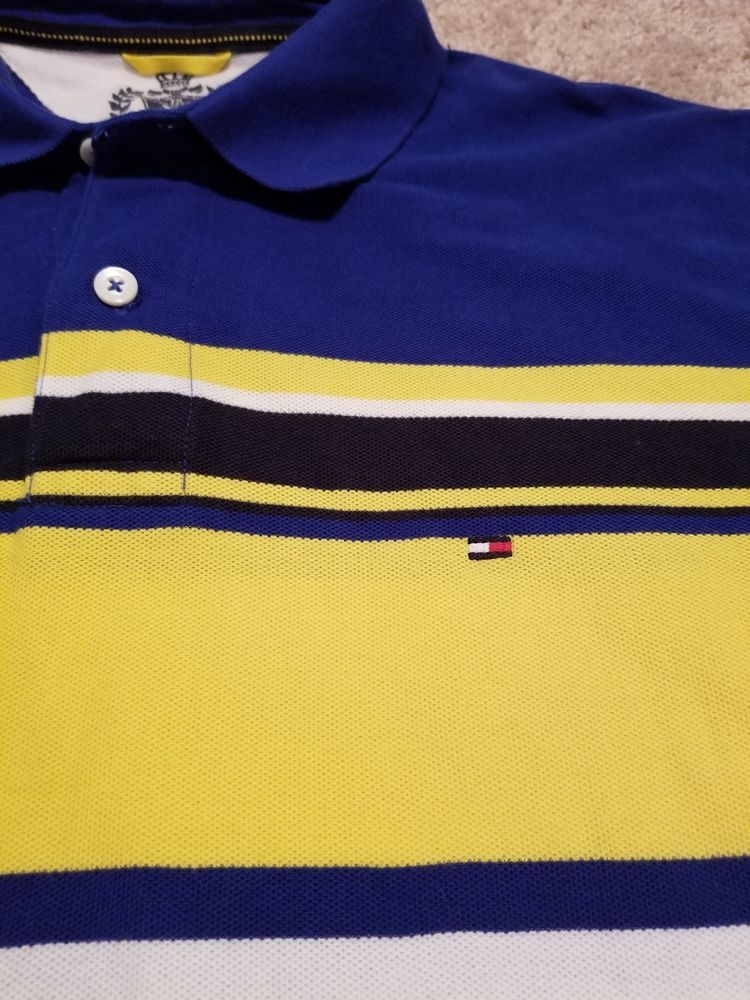 e0b767d40c Tommy Hilfiger Vintage Striped Polo Shirt. Medium in navy blue yellow and  white #fashion #clothing #shoes #accessories #mensclothing #shirts (ebay  link)