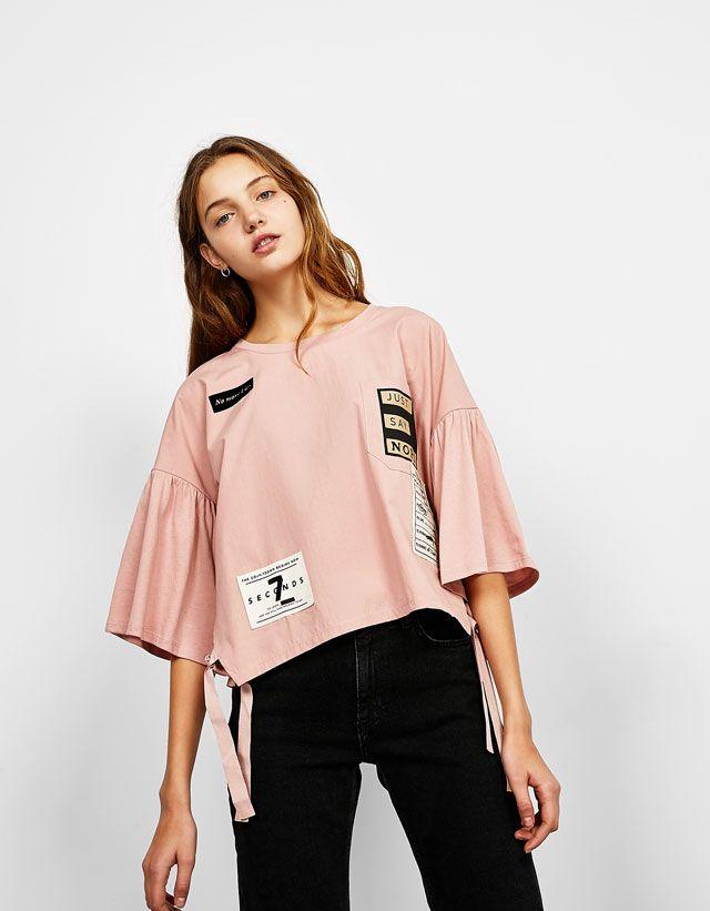 2b1bcaae0c4 T-Shirts - NEW COLLECTION - WOMAN - Bershka Tunisia