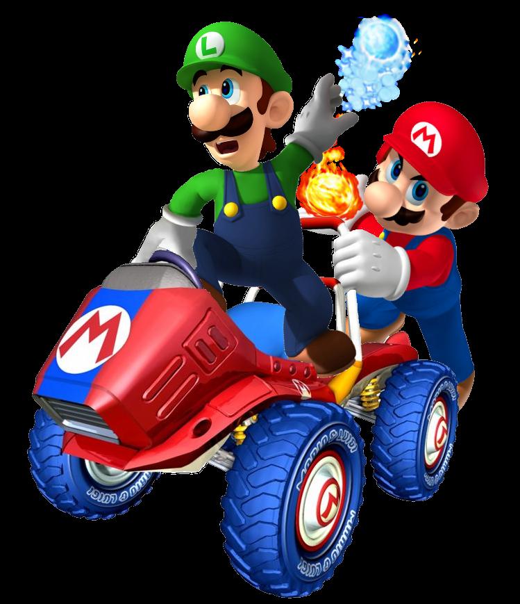 Kart Sprite Mario Luigi Super