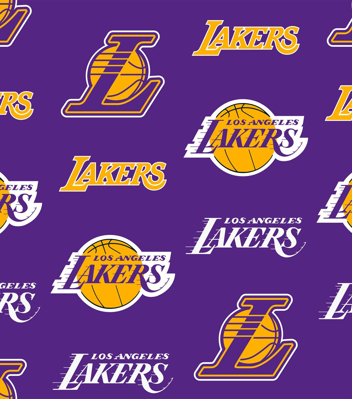 Los Angeles Lakers Fabric By the Yard