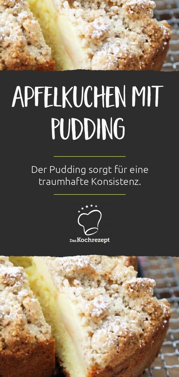 Veganer Apfelkuchen mit Pudding
