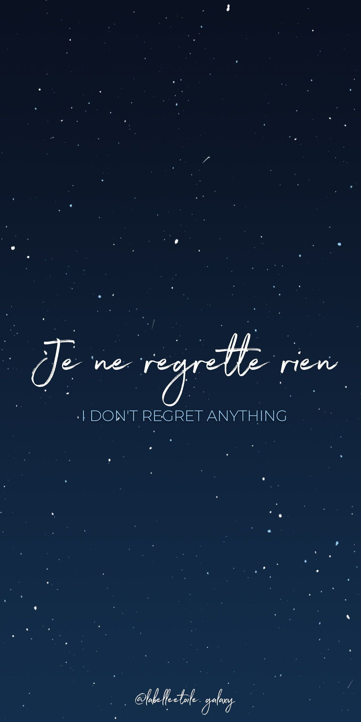 Je Ne Regrette Rien I Don T Regret Anything Bonjour You Are In The Right Pace To Learn French French Words Quotes French Love Quotes French Quotes