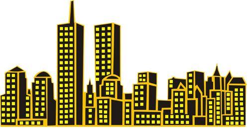 New York City Skyline Free Template Cake