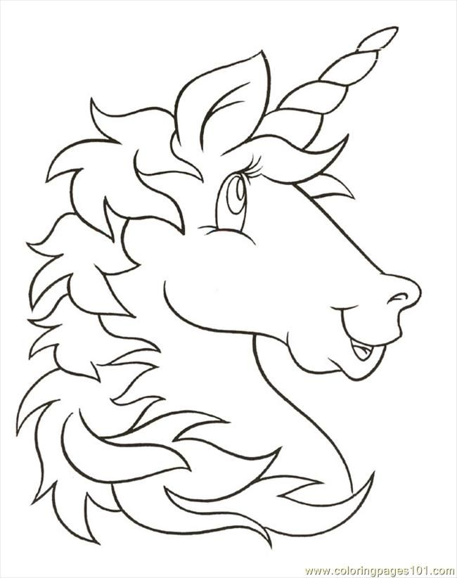 free printable coloring image Unicornhead | Coloring Fun | Pinterest ...