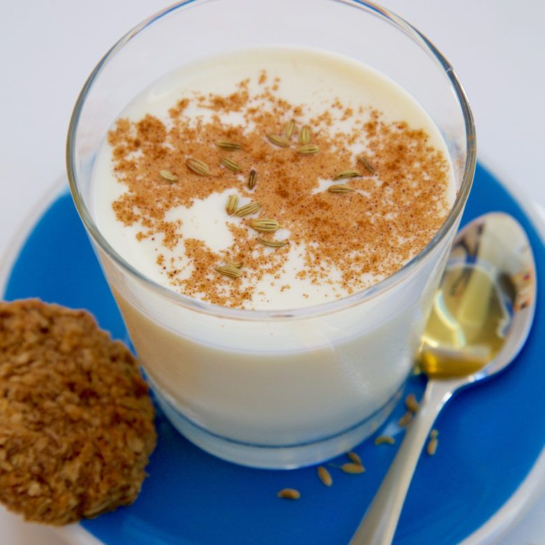 Hot fennel and honey milk drink Recipe Lactation