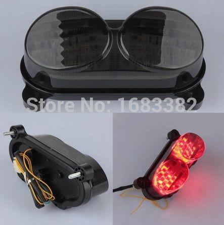 LOV LED Turn Signal Lights For Kawasaki ZX-9R ZX9R 2002-2003 Smoke