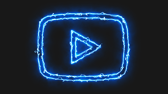 Blue Electric Youtube Video Icon in 2020 Wallpaper