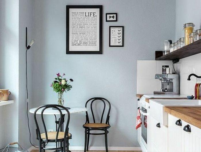 Repeindre Sa Cuisine En Bleu Pastel, Quelle Couleur Pour Les Murs Du0027une  Cuisine