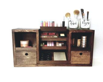 Photo Gallery For Photographers Light Grey Distressed Wall Mounted Makeup Organizer Vanity