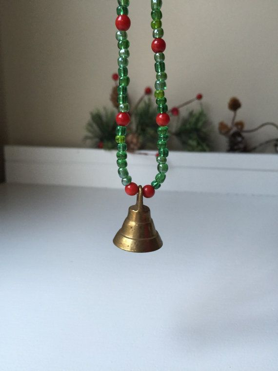 Small vintage brass bell Christmas ornament by MabesMenagerie