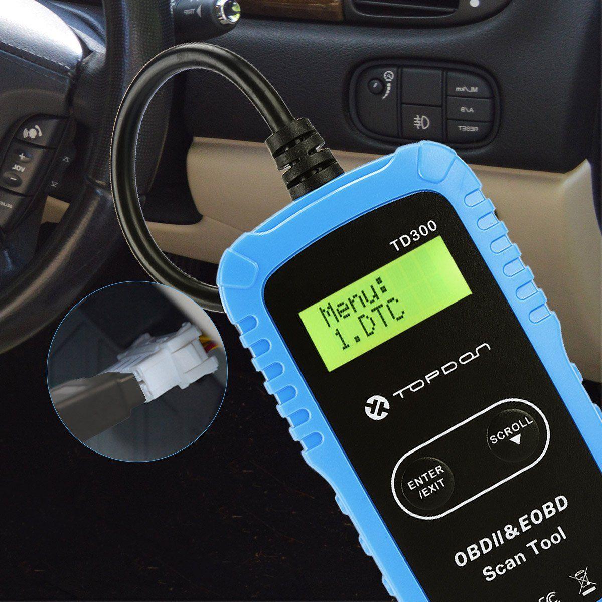 Amazon com: OBD2 Scanner, Topdon TD300 Car Code Reader Read/Clear