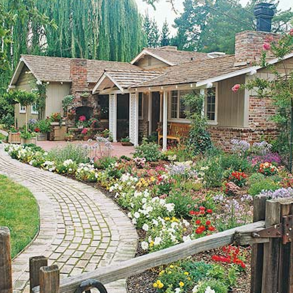 25 Gorgeous Front Yard Garden Landscaping Ideas: Get Spring Ready: Add Flowers To Your Front Walk