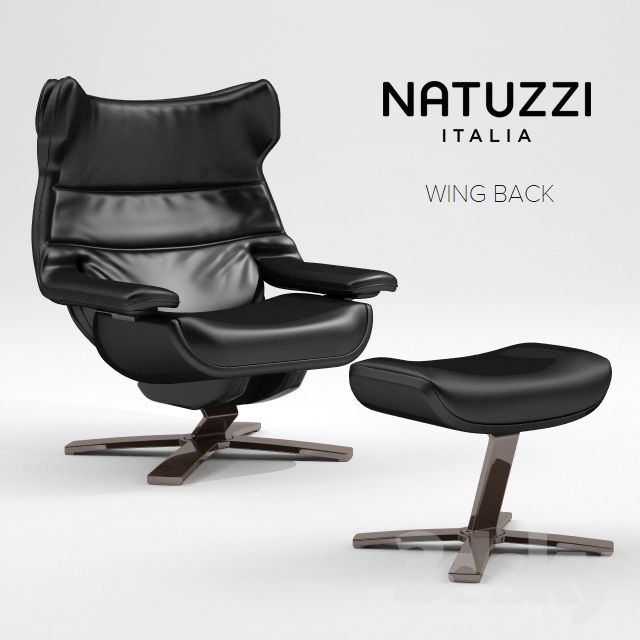 Natuzzi Relax Fauteuil.Natuzzi Revive Wing Back Armchair Odd Chair 丨 单人沙发 单椅 In