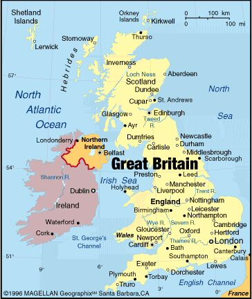 Road map of Great Britain at the time of the Roman Empire England