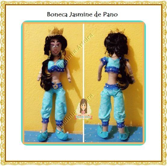 Boneca Jasmine Frente e costa