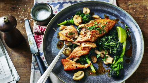 Sicilian style salmon with garlic mushrooms recipe garlic sicilian style salmon with garlic mushrooms recipe garlic mushrooms fish supper and sicilian forumfinder Images
