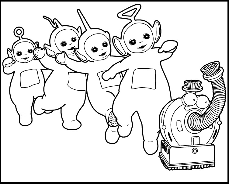 activity teletubbies printable coloring picture for kids - Teletubbies Coloring Page