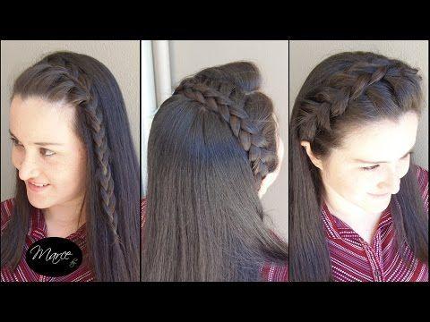 Diademas con trenzas (3 opciones!) - Three headband braids!   Marce DIY - YouTube
