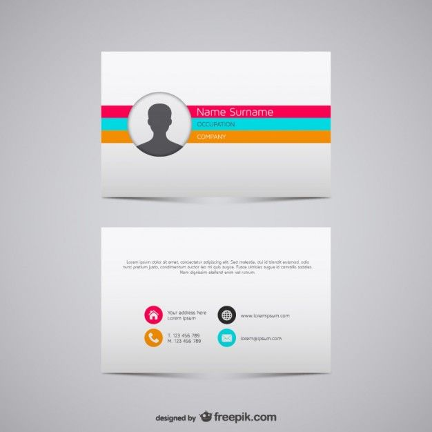 Download Colorful Stripes Business Card For Free With Images