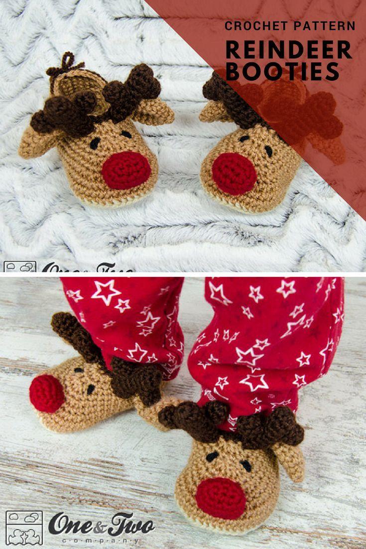 Reindeer Booties Crochet Pattern. Instant Download. #ad #etsy ...