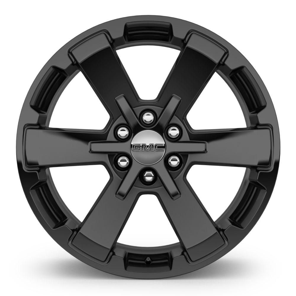Personalize your 2016 tahoe with this gm accessory wheel use only gmapproved wheel and tire combinations 22 inch wheel highgloss black sev single image for