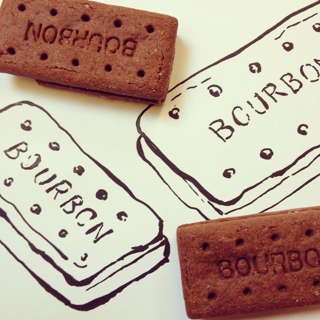 "Ohn Mar Win Artist & Teacher on Instagram: ""Day 10 food challenge. Choc bourbon another classic that accompanies cuppa tea #doodleaday #brushpen #biscuits #foodle #fooddrawing…"""