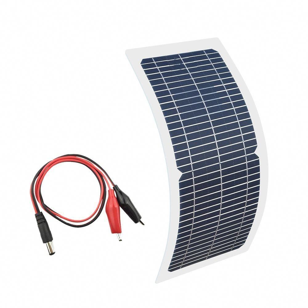 Xinpuguang 18v 10w Solar Panel Kit Transparent Semi Flexible Monocrystalline Cell Diy Module Outdoor Connector In 2020 Solar Panel Kits Solar Panels Best Solar Panels