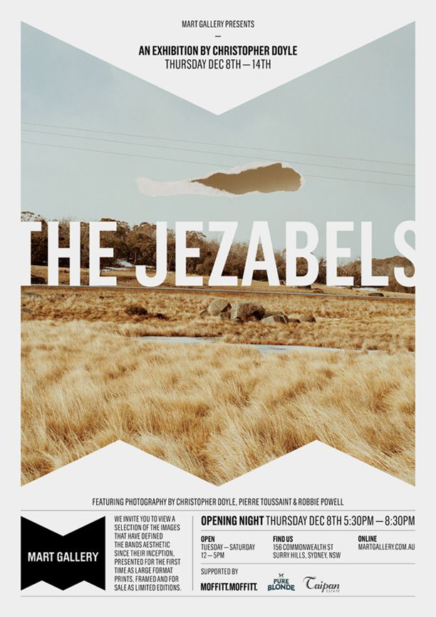 Love This Poster Design The Jezabels Are Amazing Christopher