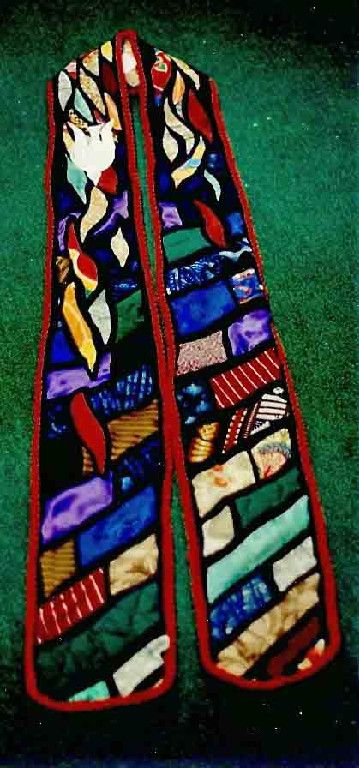 Patchwork stole for St. Brendan the navigator in Stoneington Maine