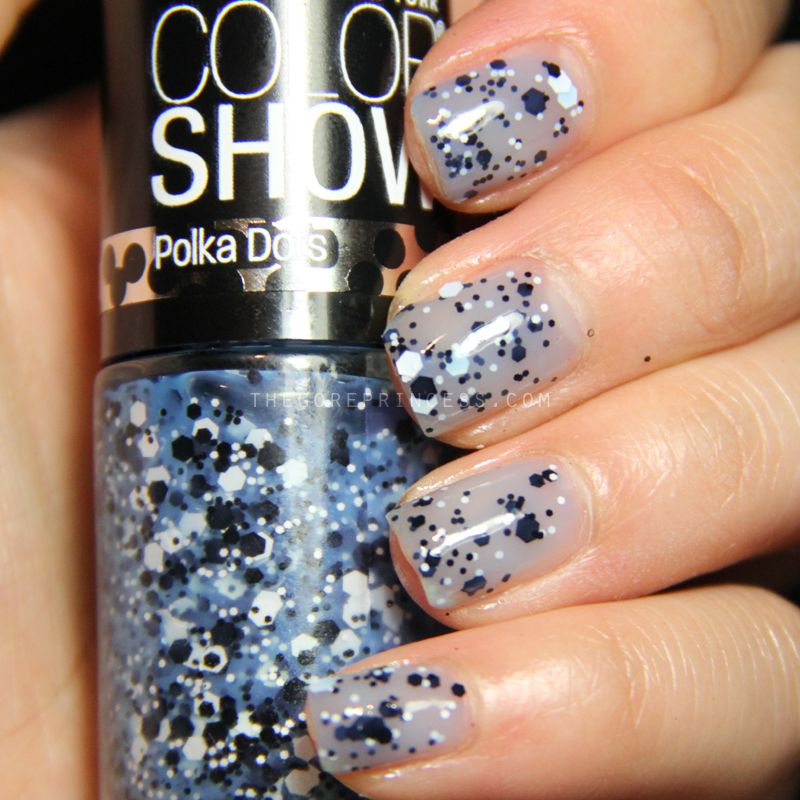 Maybelline Blue Marks the Spot is a sheer, slate blue jelly with ...