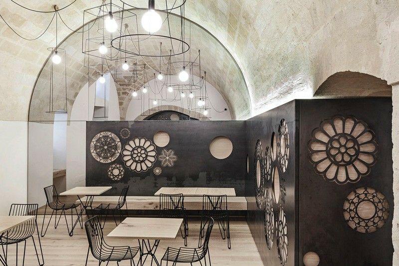 wand paneelen design mit floralen motiven in materia, italien, Innedesign