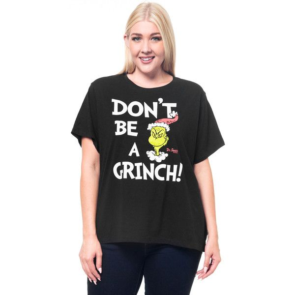 1a74c5ab4ea Dr. Seuss Don t Be A Grinch Plus Size Tee Shop via Polyvore featuring