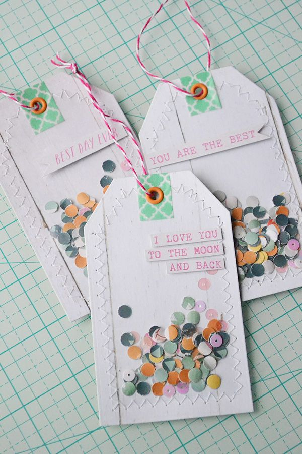 Confetti Gift Tags With Images Gift Tags Diy Gift Tags