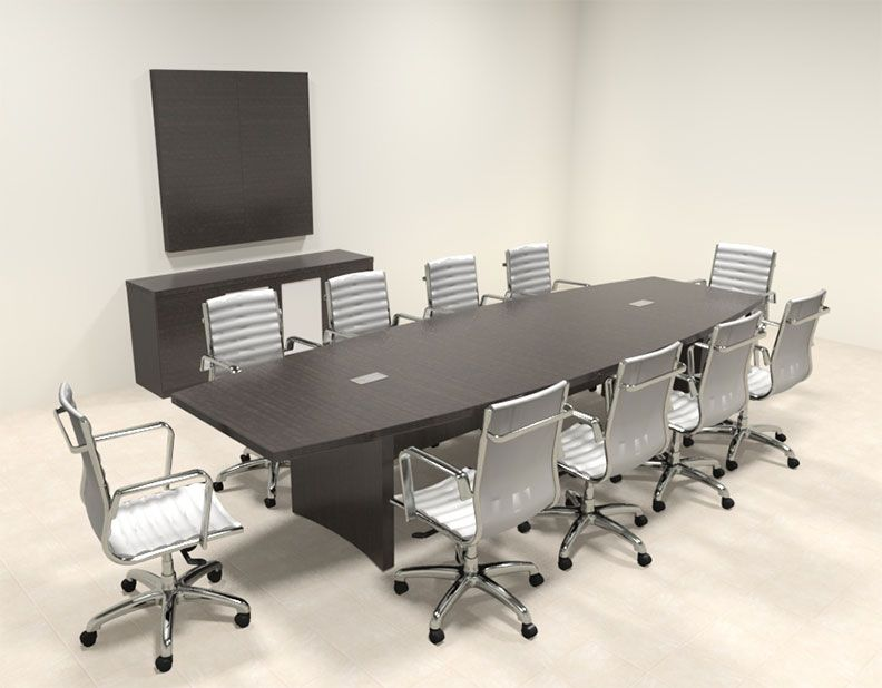 Modern Contemporary Boat Shaped 12 Feet Conference Table Ro Abd C12 Conference Table Table Modern Contemporary