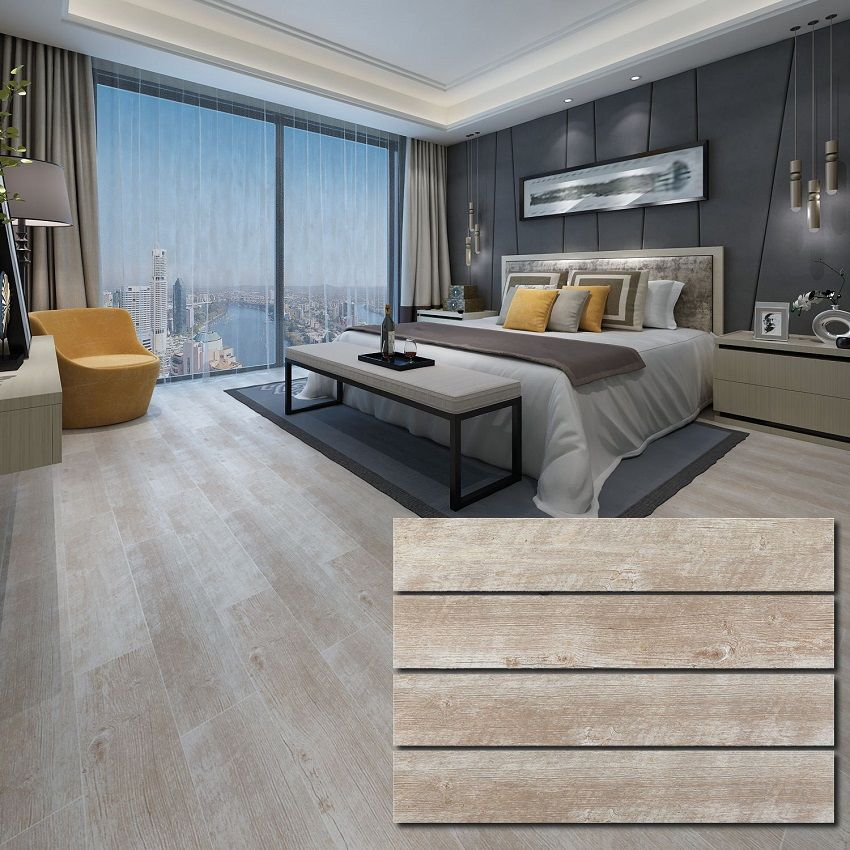 polished ceramic wood tile