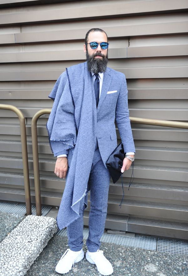 f42f6b07ab1 Classic Suit   Sneakers Outfit - Pitti88 Firenze. Kamiceria