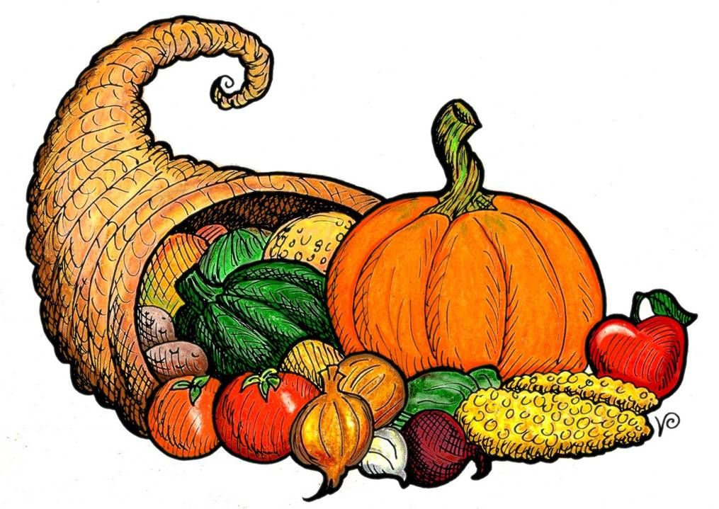 cornucopia clip art to use as example for this month s art project rh pinterest com cornucopia clipart black and white cornucopia clip art black white