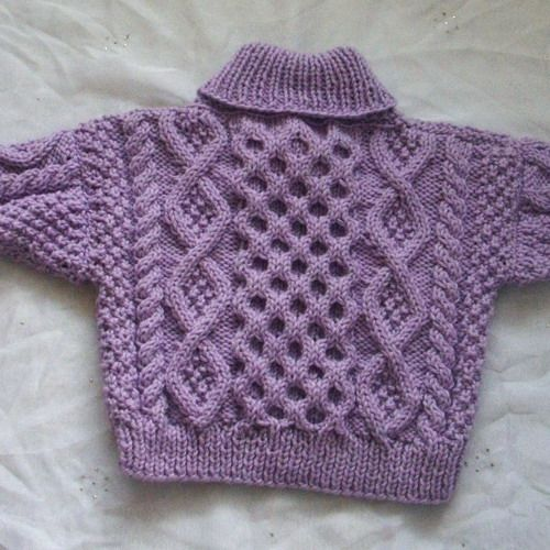Free Knitting Pattern Baby Cable Cardigan : Cable cross-neck sweater for baby or toddler - PDF ...